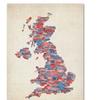 Michael Tompsett 'UK Cities Text Map 2' Canvas Art
