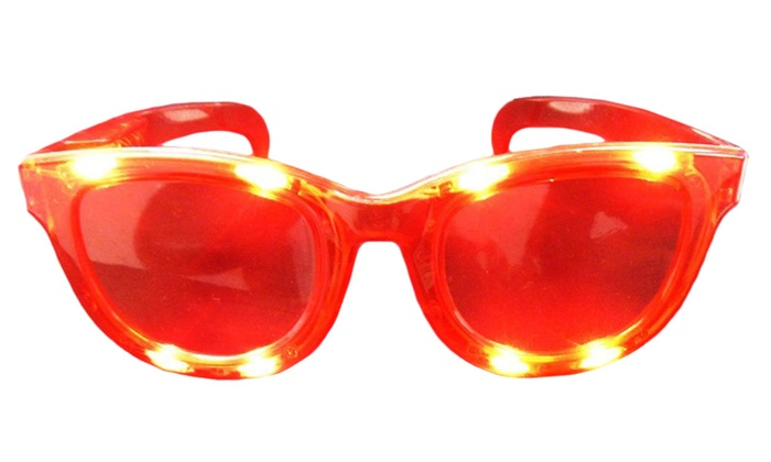 Buy It Now : Jumbo LED Flashing Light Up Sunglasses, Red, (Pack of 2)
