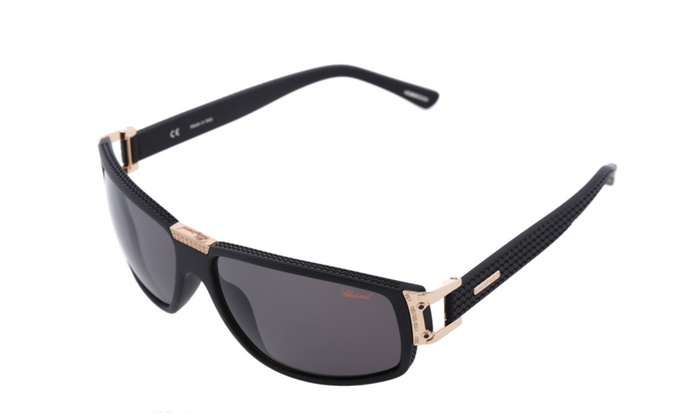 bb0412f6dfce Chopard Men Polarized 23KT Gold Plated Designer Sunglasses | Groupon