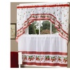 Strawberry Vine Printed Tier and Swag Set - Red