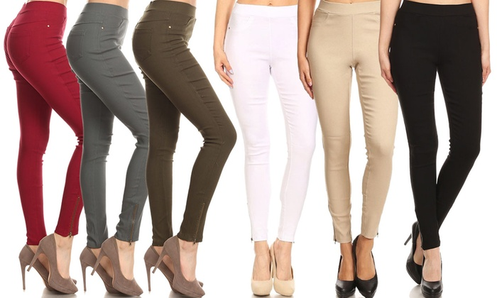 0f74ba881192ae Up To 50% Off on Women's Skinny Stretch Jeggings | Groupon Goods