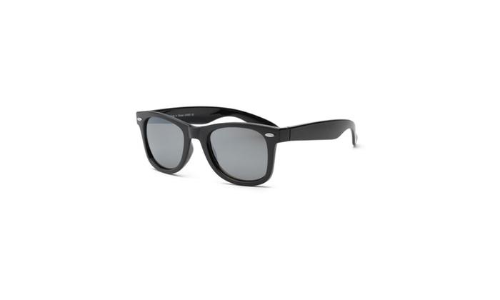 Real Kids Black Frame-Black Temples Silver Mirror Lens 10plus