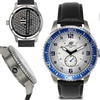 Aubert Freres Montagne Mens Watch Black/Silver/Blue