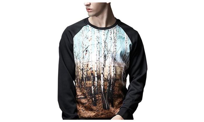 Shefetch Men's Chic Casual Autumn Retro Long Sleeve Sweatshirt