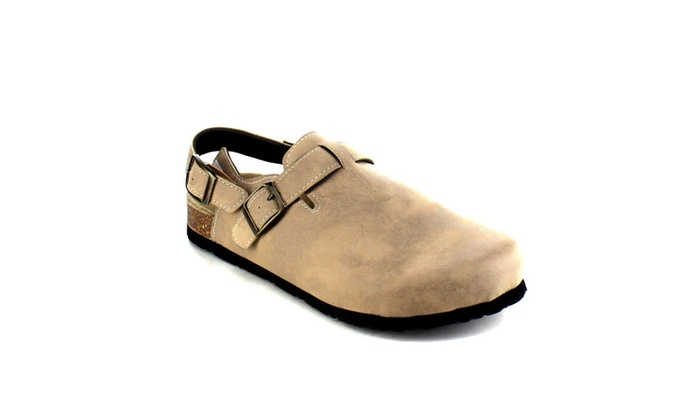 Beston AA97 Buckle Strap Cork Footbed Slingback Casual Flat Sandals