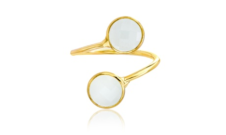Angelique Paris Mother of Pearl or Turquoise Bypass Ring a98a12e1-2602-4347-ae52-7189cce2ca1b