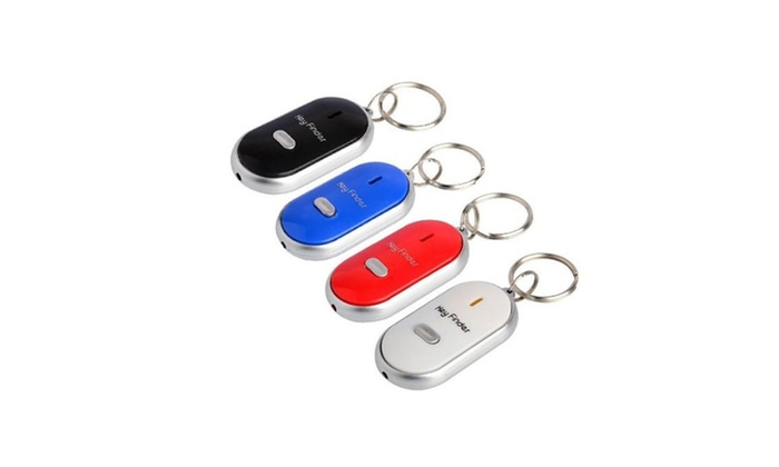 2-Pack Whistle Beep Key Finder with LED Light