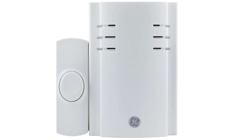 GE 19298 Pushbutton Plug-in Door Chime With 2 Melodies photo