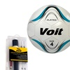 Voit Size 4 Soccer Ball with Inflating Kit - White and Blue Graphic