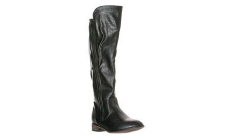Riverberry Women's 'Clayton-12' Zipper Riding Knee High Boots, Black
