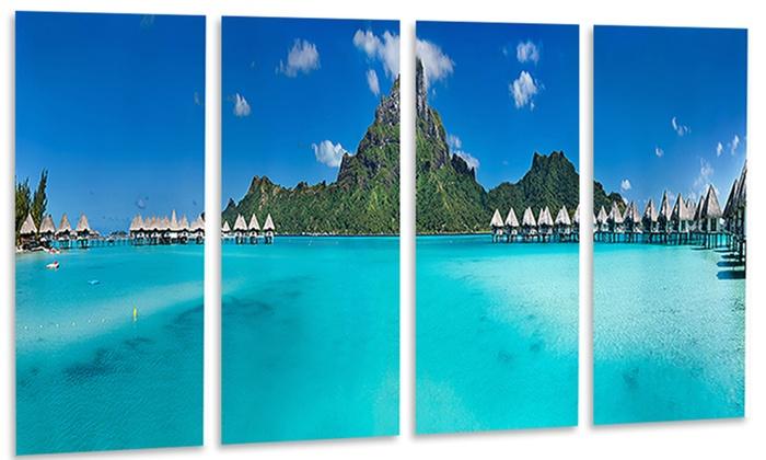 Bora Bora Panorama Beach - Seascape Metal Wall Art   Groupon