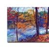 David Lloyd Glover Falling Leaves Canvas Print
