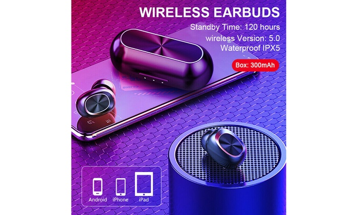 Up To 50 Off On 2019 Bluetooth 5 0 Headset Tw Groupon Goods