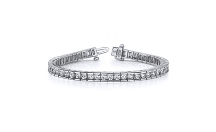 5.00 ct Ladies Round Cut Diamond Tennis Bracelet In Channel Setting New