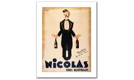 'Nicolas Fines Bouteilles' Canvas Rolled Art 1c43df0e-6021-4203-9b61-e32aee2392ae