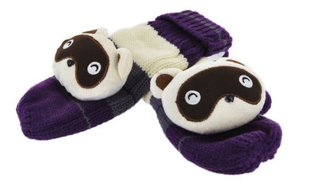 Adorable Children's Animal Mittens