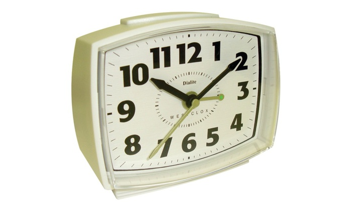 westclox 22192 electric alarm clock with constant lighted