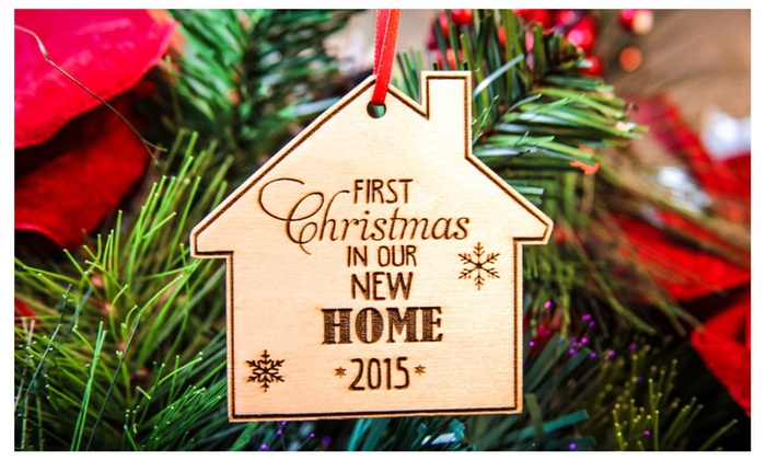 Our First Home Christmas Ornament.Our First Home Ornament