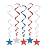 Patriotic Star Whirls (pack of 30)