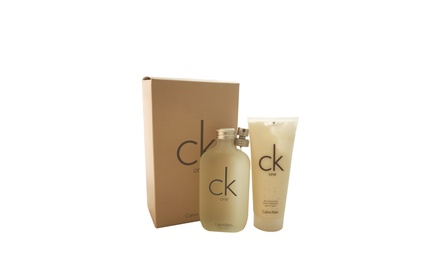 CALVIN KLEIN C.K One 6.7oz EDT Spray and 8.5oz Moisturizer