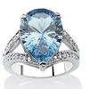 .32 TCW London Blue Spinel and CZ Ring