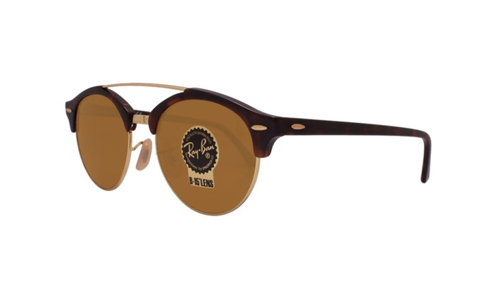 ff44be86eb Ray Ban clubround double bridge rb4346 990 33 51 tortoise   brown ...