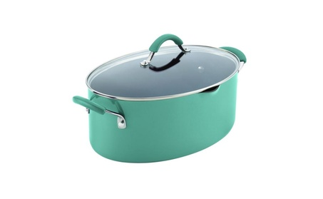 Rachael Ray 16348 Cucina Hard Enamel Nonstick Covered Oval Pasta Pot faf2605d-0b5c-4e96-9365-802ada37ea57