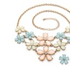 Pastel Lucite and Crystal Flower Jewelry Set