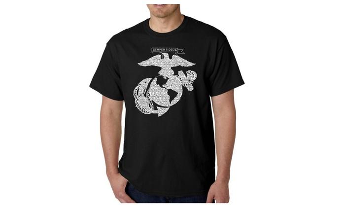 Men's T-shirt - LYRICS TO THE MARINES HYMN