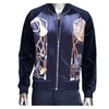 Men's Fashion Retro Printed Zip Up Slim Fit Outerwear Jacket