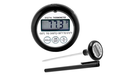 Digital Meat Thermometer, Liquid Candy Thermometer (Quick Read, Pocket'sized Waterproof, Auto Shut-off, Battery Included )