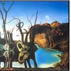 Reflections of Elephants by Salvador Dali