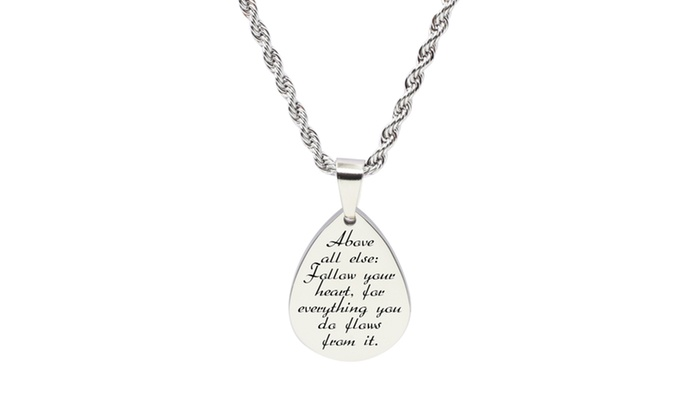 Mom Pink Box Infinity Heart Inspirational Necklace Rose Gold