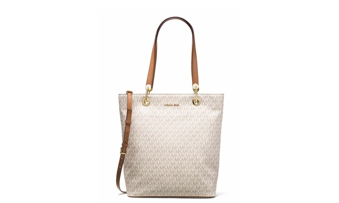1e6a4bee3f7a90 Michael Kors Raven Large North South Tote - Vanilla - 30S7GRXT3V-150 ...