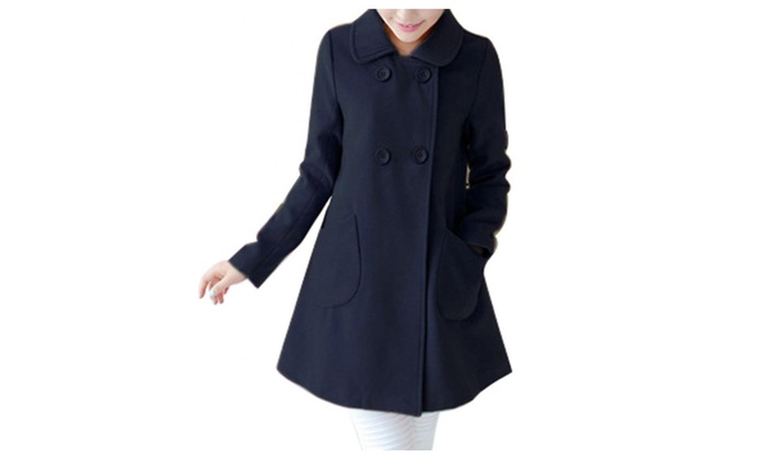 DSB Wool Cloak Winter Warm jacket Outwear Trench Coat Plus Size