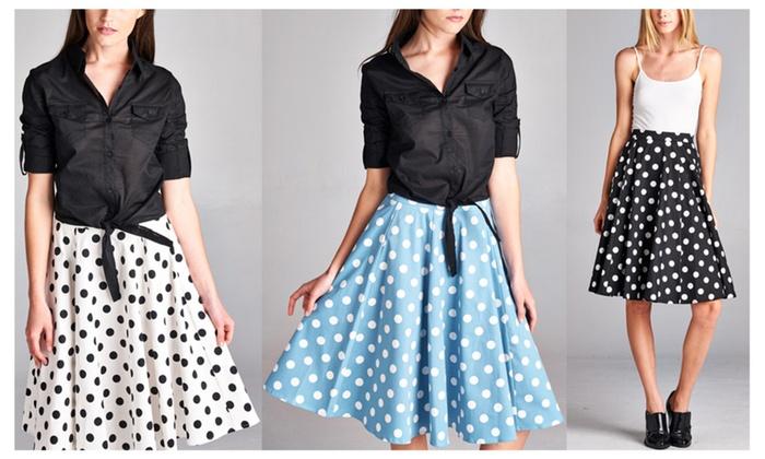 Retro Polka Dots A-Line skirt