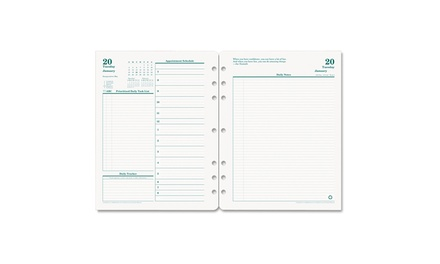 franklincovey original dated daily planner refill 2016