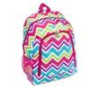 Rainbow Chevron Print Fashion Canvas School Cheer Backpack