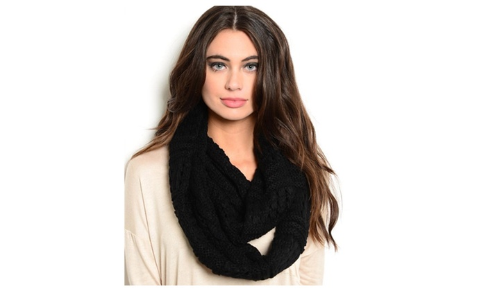 Textured Infinity Scarf