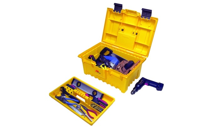 Plano 19 Inch Power Tool Box with Lift-Out Tray - Yellow