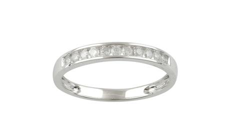1/4 cttw Channel Set Diamond Wedding Band 10K White Gold Jewelry for Women Girls