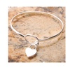 Silver Heart Bangle Sterling