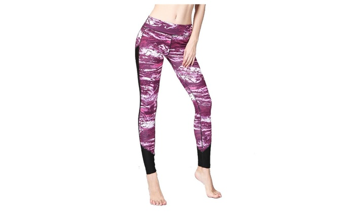 Women's Printed Capri with Mesh