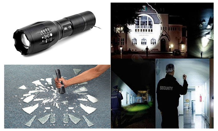 CREE XM-L T6 Waterproof 5 Modes Zoom LED Flashlight Torch Light