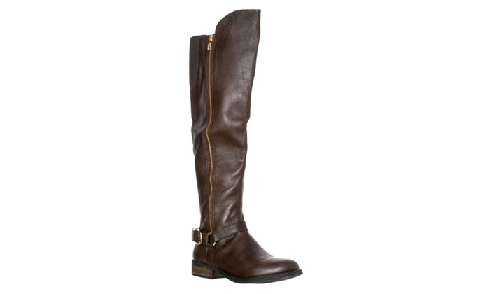 Steve Madden Women's 'SKIPPUR' Motorcycle Boots, Brown