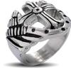 Stainless Steel Men's Royal Cross Shield Ring
