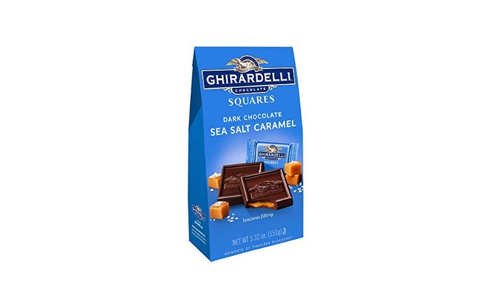 NileStores: Ghirardelli Dark and Caramel Sea Salt, Chocolate Squares