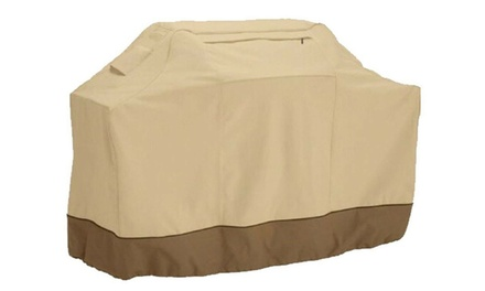 Heavy Duty Waterproof Outdoor Barbecue BBQ Gas Grill Cover (Black or Beige)