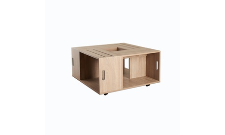 Ortencia Weathered White Crate Inspired Open Shelf Coffee Table 8dfaf35c-ed0e-4790-80e5-499e21ff926d
