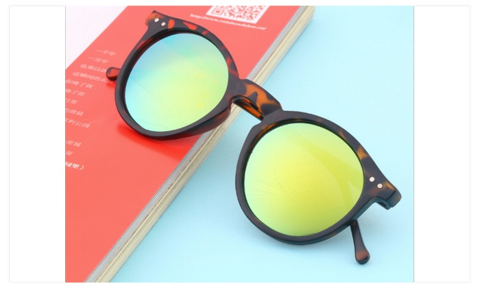 Vintage Retro Unisex Mirror lens Round Glasses For Women